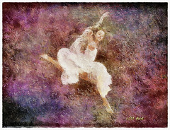 Dancing through fog (Leo Bar) Tags: colors painting dance ballerina dancers danza creative leap pintura moderndance compositing awardtree leobar pixinmotion netartii
