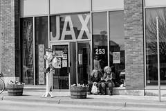 StPaulArtCrawl2016_46351-.jpg (Mully410 * Images) Tags: people blackandwhite signs monochrome balloons planters stpaul sidewalk 2016 artcrawl jaxbuilding niksilverefexpro