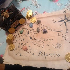 Made my own map for the... (nathanrobinson2) Tags: family england holiday beach fun outdoors cornwall pirates indianajones polperro treasurehunt funnydaddy uploaded:by=flickstagram instagram:photo=1055995506639241922184137303