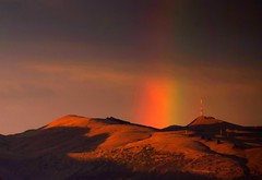 Sunrise rainbow New Brighton pier (mpp26) Tags: morning light newzealand christchurch sunrise pier early rainbow bankspeninsula newbrighton