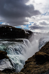 Gullfoss Waterfall Iceland (Michelle Tuttle) Tags: nature waterfall iceland spray strong powerful gullfoss bold gullfosswaterfall dramatice