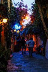 _DSC2251 (SeorNT) Tags: lights noche neon gente callejon horaazul
