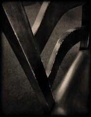 Chair back (Bob R.L. Evans) Tags: wood pattern symmetry stilllifechair ipadphotography