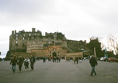 op - edinburgh castle at dusk (johnnytakespictures) Tags: greatbritain building castle film architecture pen scott evening scotland lomo lomography edinburgh afternoon fort dusk scottish olympus medieval historic historical british analogue halfframe period ee3 lomographycn400