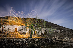 Lightpainting Las Negras (Pisniz) Tags: lightpainting cabodegata startrails lasnegras largaexposicin lanadeacero