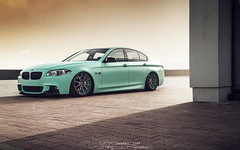 BMW 5 Series (CiprianMihai) Tags: auto green cars car canon photography eos photo 5 low automotive f10 bmw series bags mihai d2 kw 535 stance 6d bossen airbags ciprian vossen lowsociety accuair ciprianmihai