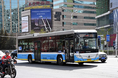 Beijing Bus 950103 (trolleybus) (Howard_Pulling) Tags: china camera bus buses photo airport nikon asia photos beijing picture zug trains april cr 2016 pek beijingrailwaystation chinarailways beijingcapital howardpulling d7200