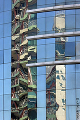 Aspects of Lisbon 122 (Row 17) Tags: city urban abstract reflection building tower portugal glass architecture buildings reflections lisbon towers abstracts