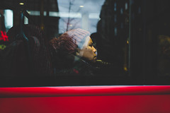 BUS (Cem Bayir) Tags: street leica city red england people woman color bus london window night 35mm bokeh f14 streetphotography busstop inside fullframe lux summilux asph leicacamera leicam asperical leicalove 35mmf14summiluxasph leicam240