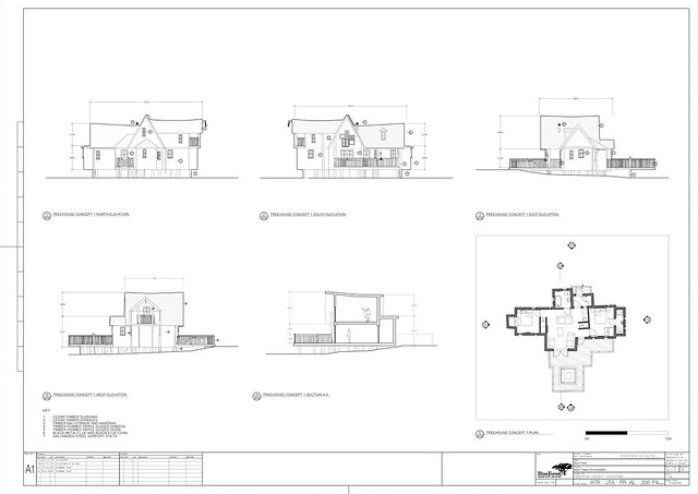 TreeHouse Plan 1 Elevations