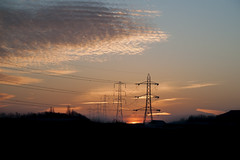Sunrise Stoke Works (Vortex Photography - Duncan Monk) Tags: cloud sun silhouette electric clouds sunrise grid pylon national electricity works worcestershire rise stoke