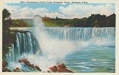 Horseshoe Falls From Prospect Park (The Cardboard America Archives) Tags: newyork ontario vintage niagarafalls waterfall postcard