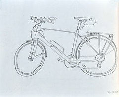 velo (GwenFromRennes) Tags: bike sketch vélo croquis