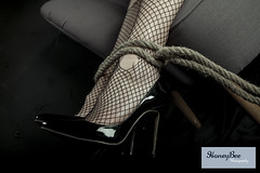 bound with logo (Honeybee Photography) Tags: studio tie bondage rope boudoir tied bound