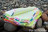 Neon quilt fold over (pigsinpajamas) Tags: neon quilt fabric batting layercake basting backing jellyroll rileyblake