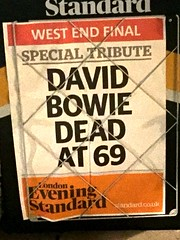 David Bowie Dead At 69 (LinkMachineGo) Tags: london dead 69 eveningstandard davidbowie
