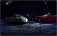 Night Jaguar (gpholtz) Tags: miniatures buick jaguar diorama 1959 mkii 118 diecast