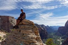 Na szczycie Lądowiska Aniołów | On top of Angels Landing