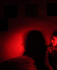 PossesedDSC_0658 (Jimbo23King) Tags: madrid longexposure nightphotography blue light red lightpainting angel night lights spain espana torch lightart madridcentro madridatnight sooc nikond300
