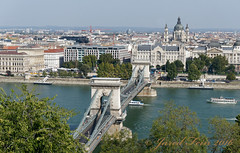The Chain Bridge, Budapest (SewerDoc (4 million views)) Tags: bridge boats europe hungary cityscape basilica budapest engineering suspensionbridge chainbridge centraleurope széchenyichainbridge thechainbridge