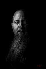 Au coeur de l'ombre (Yasur.sur.Flickr) Tags: portrait bw man monochrome face beard eyes nikon noiretblanc highcontrast yeux d750 drama lowkey barbe homme visage 70200mm yasur drame dramatique basselumière contrasteélevé