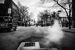 (W.....) Tags: street winter urban bw toronto cold smoke 14 35