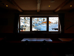 Window. (*Valentina.) Tags: winter snow window landscape lights darkness details january ombre finestra neve chalet luci dettagli inverno paesaggio gennaio baita