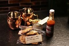 Corine's Gifted Goodies (Kimberly C. Lee) Tags: cocktail homemade gift present anthropologie hotsauce milkbar momofuku holidaygift bodybutter cookiemix momofukumilkbar homemadehotsauce moscowmulemugs