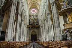 Amiens Cathedral - Nave Looking West (Le Monde1) Tags: france west nikon cathedral unesco notredame nave amiens romancatholic picardie picardy worldheritagecentre d7000 lemonde1