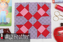 gnomeangel-farmers-wife-1930-block-42-heather-fqs (gnomeangel) Tags: modern quilt quilting patchwork tutorial farmerswife fussycutting gnomeangel fussycuttersclub farmerswife1930