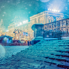 Fairy tale (Dmitry_Pimenov) Tags: winter light snow blur beautiful architecture fairytale night gum lights russia outdoor snowy moscow awesome fujifilm redsquare snowfall снег fairytail сказка волшебство fujifilmxt1 dmitrypimenov дмитрийпименов dipimenov
