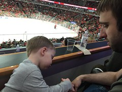 """Paul with Matt Dominski at the Blackhawks Game • <a style=""""font-size:0.8em;"""" href=""""http://www.flickr.com/photos/109120354@N07/24707097392/"""" target=""""_blank"""">View on Flickr</a>"""