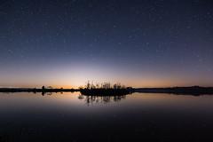 Island, night sky and reflection (Eileen Tercha) Tags: reflection abandoned stars newjersey astro marsh nightsky southernnewjersey wildlifemanagement southernnj starreflection