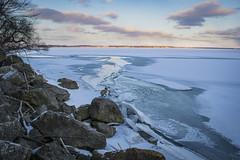 Grand Lake, OH (bdbaum17) Tags: winter sunset ohio lake snow ice rocks celina shoreline grand shore oh breaking cracking