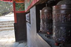 Prayer wheels (AnaMaria_au) Tags: nepal trekking prayerwheels tengboche tengbocheentrance