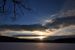 2016_0206Sunset0001 (maineman152 (Lou)) Tags: sunset sky cloud sun lake nature clouds skyscape landscape frozen pond maine february sunrays frozenover wintersky frozenlake skyview naturephotography winterscene skyscene landscapephotography naturephoto skycolor skycolors skydrama westpond landscapephoto