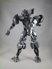 Silver Assassin back (donuts_ftw) Tags: silver lego bionicle mecha droid assassin moc constraction ccbs