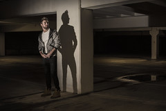 Two for one (Birdmanjag) Tags: lighting shadow portrait man male model carpark