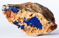 Azurite (Eduardo Estéllez) Tags: blue color macro texture nature up rock horizontal stone closeup mine raw pattern close natural crystal azure science collection whitebackground precious sample mineral material geology ornamental isolated pigment gem specimen cobalt malachite azurite crystalline gemstone carbonate hydroxide