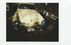 fuji instax mini 7- 1973 Karmann Ghia (EllenJo) Tags: lomo fujifilm newcamera testshots instantfilm fujiinstax linstant fujiinstantfilm ellenjo lomographicsocietyinternational ellenjoroberts february2016