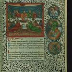 Lace Book of Marie de' Medici, Last Supper, Walters Manuscript W.494, fol. 24r thumbnail