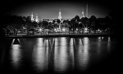 Tampa at night (Jacqueline Fay) Tags: architecture tampa rainy