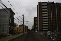 Colorless, Lifeless (phillytrax) Tags: city urban usa philadelphia america unitedstates pennsylvania demolition pa pjs highrise metropolis philly metropolitan pha northphiladelphia 215 northphilly cityofbrotherlylove sharswood philadelphiahousingauthority blumbergprojects