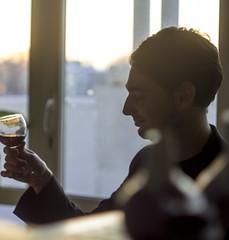 IMG_1877_2 (tandalov.com) Tags: sunset guy glass canon blog bottle wine bottles character famous blogger odessa ukraine leon jew jewish wineglass  2016 odesa  leonid              baraz