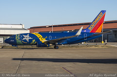 Southwest Airlines Boeing 737-7H4 (N727SW) *Nevada One* (Michael Davis Photography) Tags: southwest airplane photography ramp nashville aviation air nevada flight jet sw boeing southwestairlines jetliner bna taxiway b737 wn boeing737 737700 nashvilletennessee rampside kbna nashvilleairport n727sw nevadaone aviationphotography focuscity