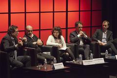 """Germain Dagognet, Hervé Béroud,  Laurence Benhamou, Nicolas Charbonneau, Guillaume Zeller - Quatre chaînes d'info, est-ce trop ? • <a style=""""font-size:0.8em;"""" href=""""http://www.flickr.com/photos/139959907@N02/25051077213/"""" target=""""_blank"""">View on Flickr</a>"""
