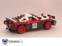 Lancia Stratos Rally Racer - 1972 (lego911) Tags: auto italy classic sports car radio one model italian control dino lego rally ferrari hundred wrc 100 win 1970s 1972 rc ways challenge lancia racer lugnuts v6 stratos moc group4 miniland group5 lego911 onehundredwaystowin