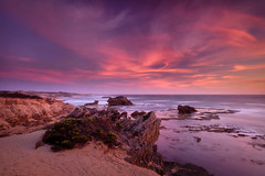 Firestorm (Rodney Campbell) Tags: ocean sunset sky water clouds rocks au australia victoria cpl portfairy yambuk thecraggs gnd09