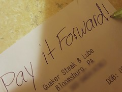 q) Discover (Kindness) (SaltyDogPhoto) Tags: pen writing handwriting samsung kind receipt kindness discover generosity payitforward samsungs6 saltydogphoto