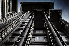Inside out lifts (sqward) Tags: city london metal industrial mechanical machine futuristic lloydsoflondon